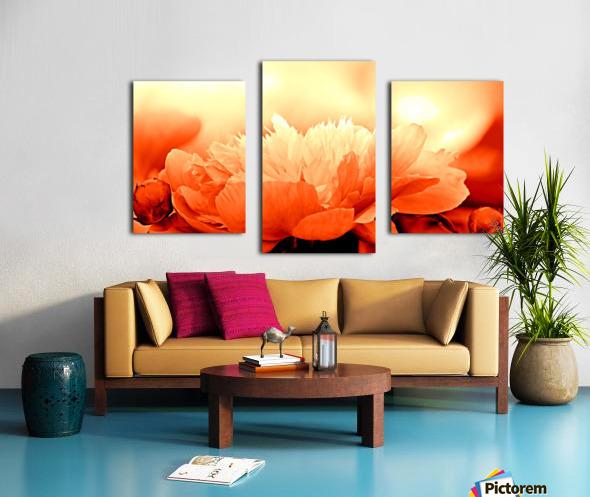 Heavenly Peony Orange Canvas print