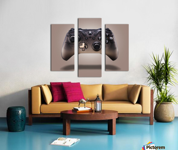 Gaming Controller v2 [extra large] Canvas print