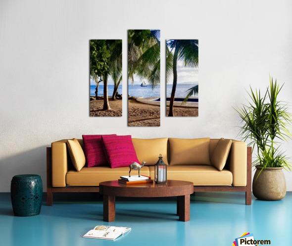 Sailboat And Palms Canvas print