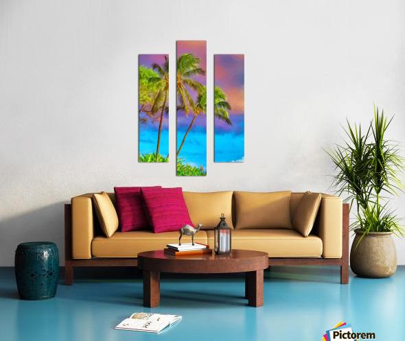 Palms Against The Sky Canvas print