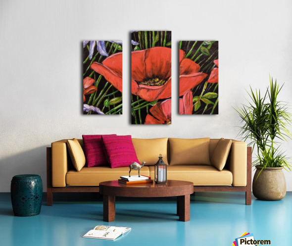 Folding Poppy Canvas print