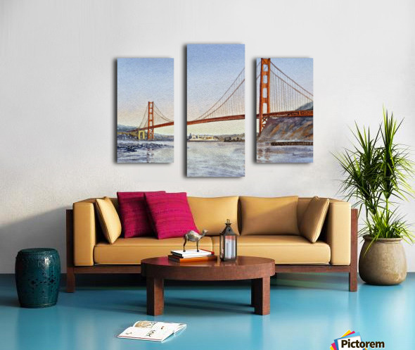 San Francisco California Golden Gate Bridge Canvas print