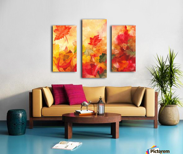 Autumn leaves Serenade  Canvas print