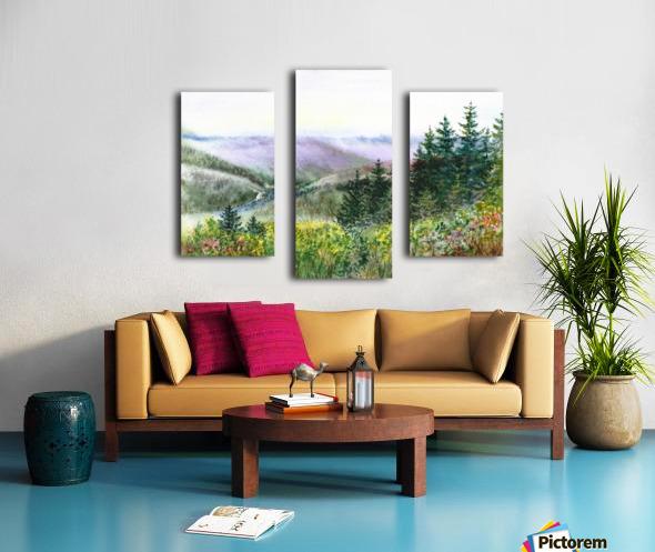 Landscape With Redwood Creek  Canvas print