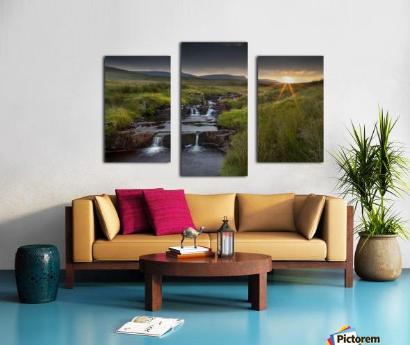 River Tawe sunset Canvas print
