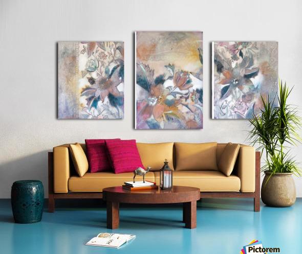 Riverton Wallpaper Tracings Triptych Canvas print