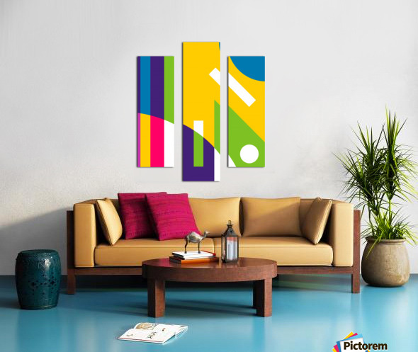 2 White Lines in Abstract Background Canvas print