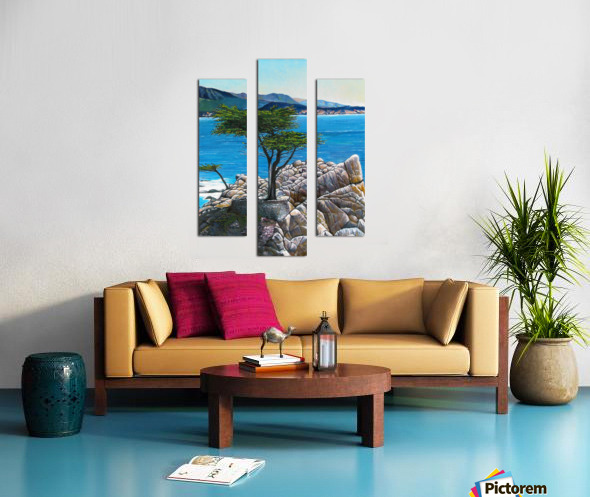 Lone Tree at Pebble Beach Canvas print
