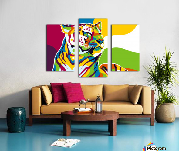 The King Tiger  Canvas print