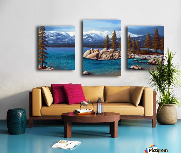 Winter At Sand Harbor Lake Tahoe Canvas print