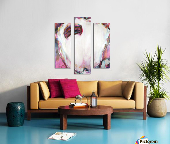 Large Louisiana Oyster with Hot Pink Canvas print