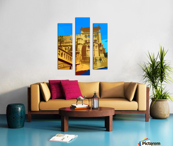 Dreams of Cannes France in Retro Behemian Style Canvas print