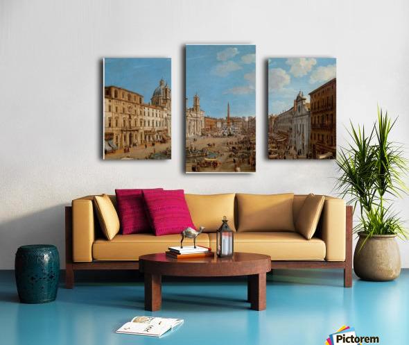 The Piazza Navona Canvas print