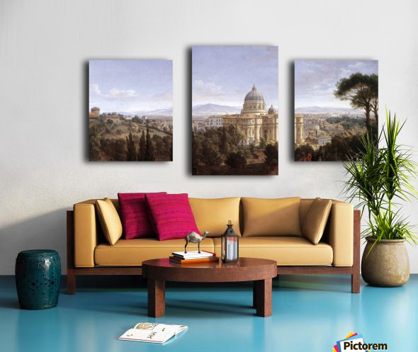 The St Peter's in Rome Canvas print