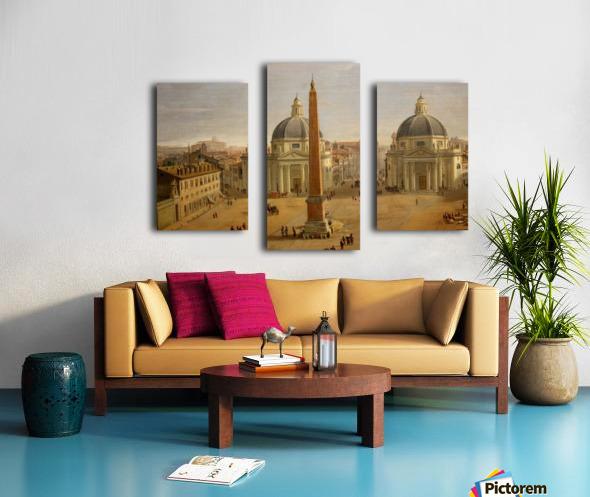 Veduta di Piazza del Popolo a Roma Canvas print