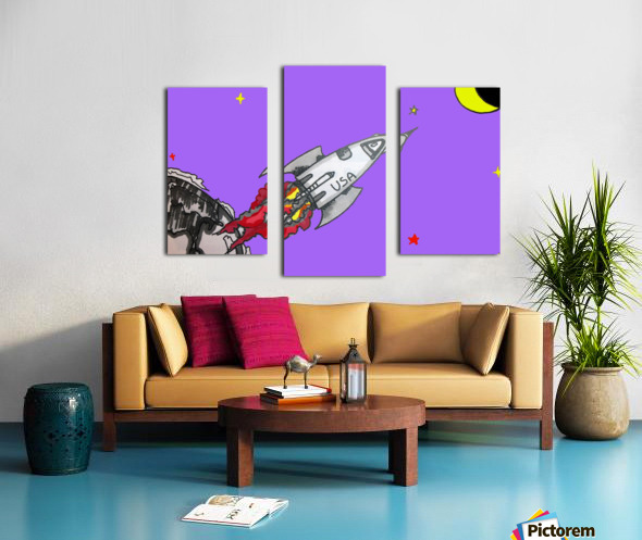 HAVE SPACE SHIP WILL TRAVEL Canvas print