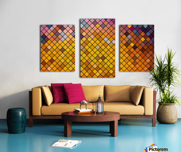 Mosaic Pattern Canvas print