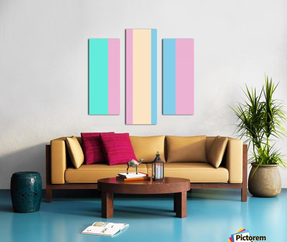 Pastel Palette Canvas print