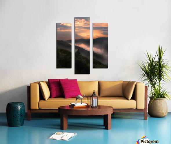After an evening shower Canvas print