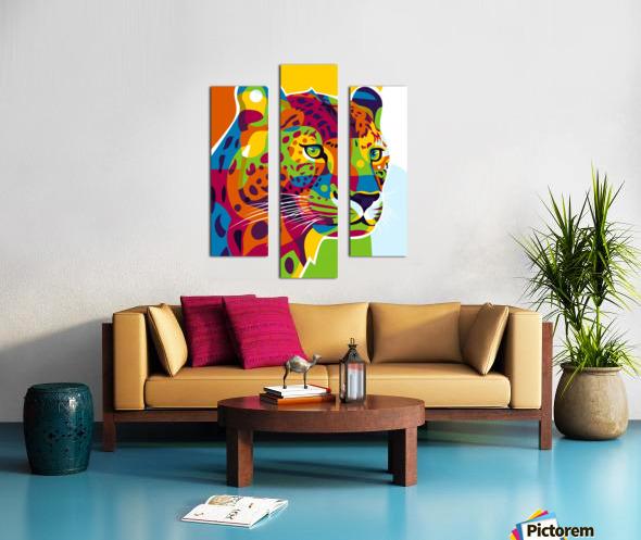The Colorful Leopard Canvas print