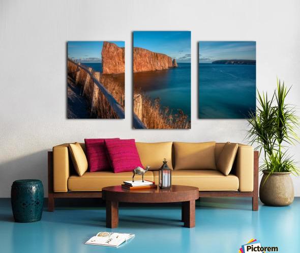 Lumiere sur le Rocher Perce Impression sur toile