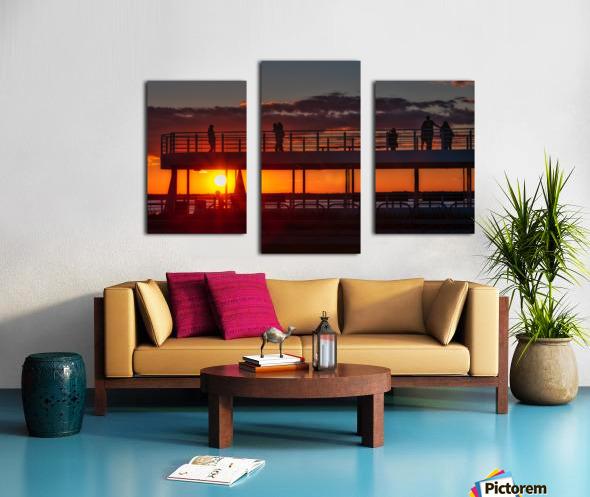 Coucher de  soleil sur Rimouski Impression sur toile