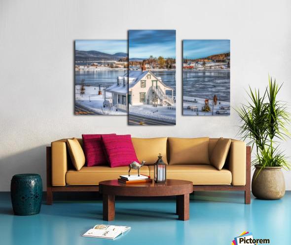 Premiere neige sur Gaspe Canvas print