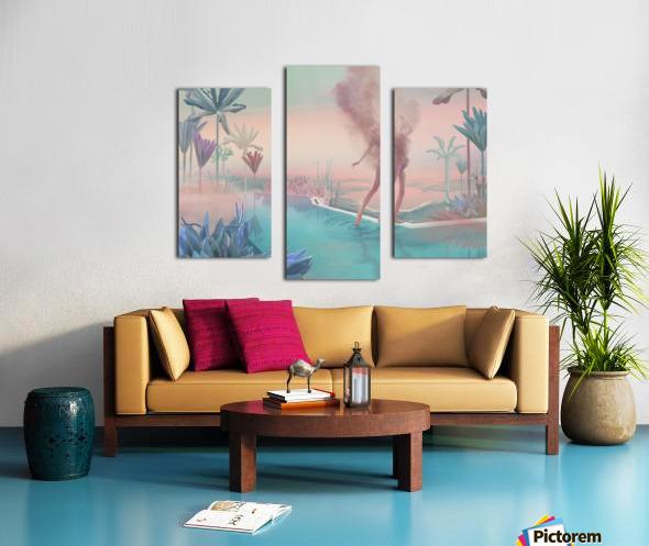 happy hot evening Canvas print