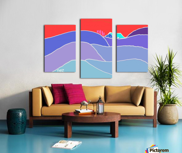 The Zone Canvas print