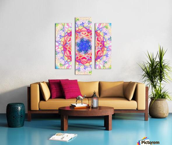 Psychedelic Art Hexagon Mandala Handdrawing Canvas print
