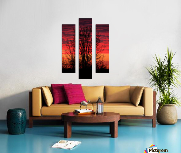 Missouri Sunset part 1 Canvas print