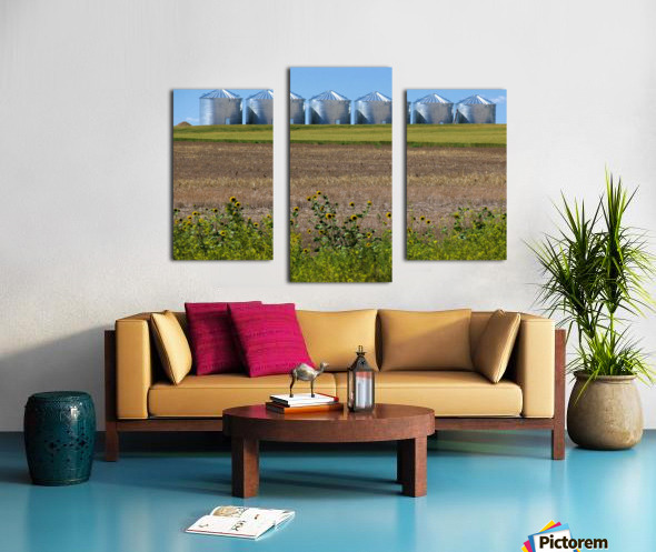 Grain Silos Canvas print