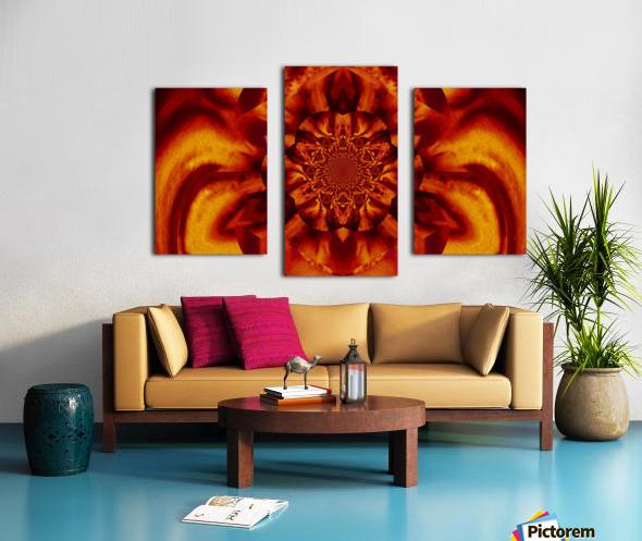 Lotus in Gold Satin Canvas print