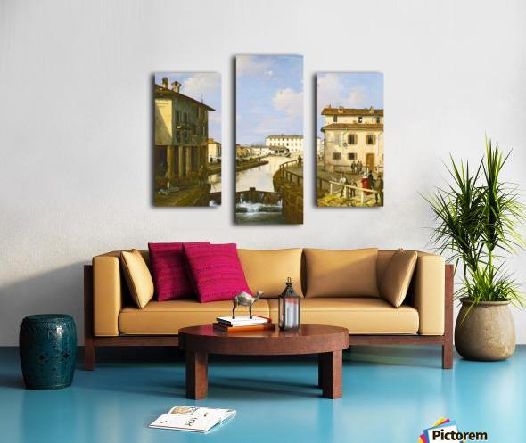 Il Naviglio dal ponte di San Marco Canvas print