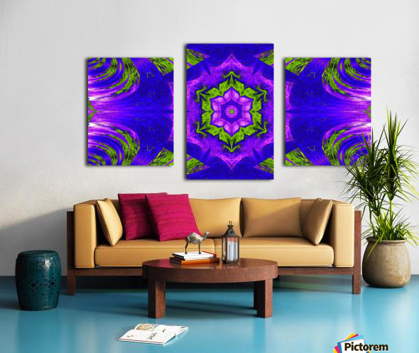 Pink Lotus In Green Canvas print