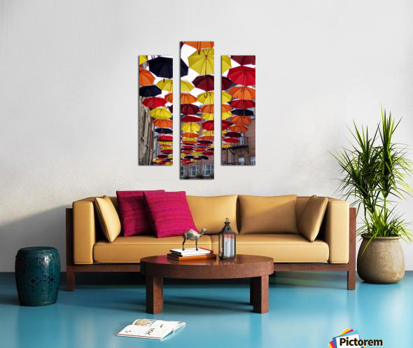 parapluies Canvas print