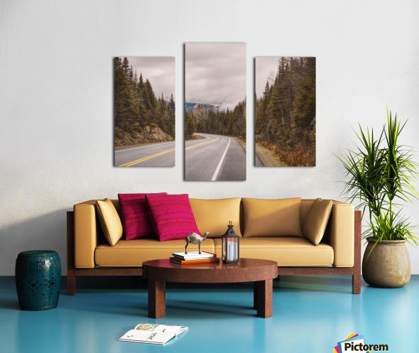 La route Canvas print
