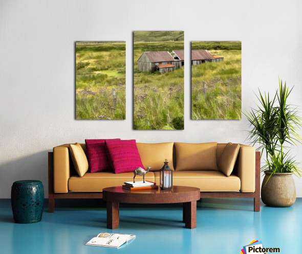 Scottish Highlands Barn Canvas print