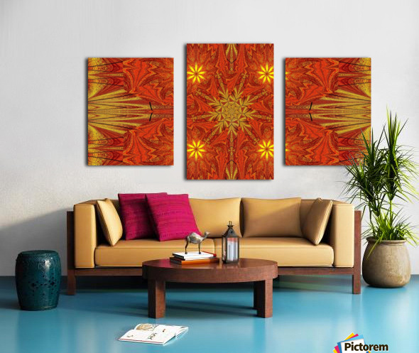 Golden Lotus In Light 4 Canvas print