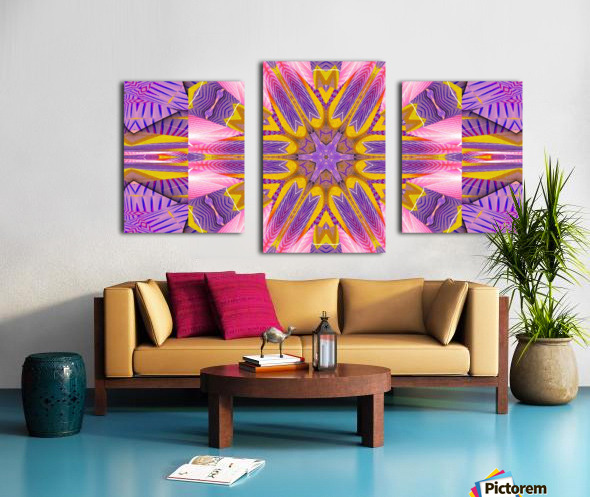 Lotus In The Pink 4 Canvas print