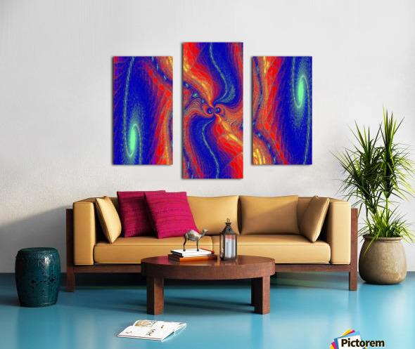 Lotus Of Movement  Canvas print
