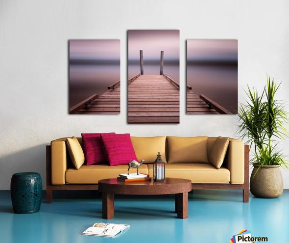 The jetty on Comox Lake Canvas print
