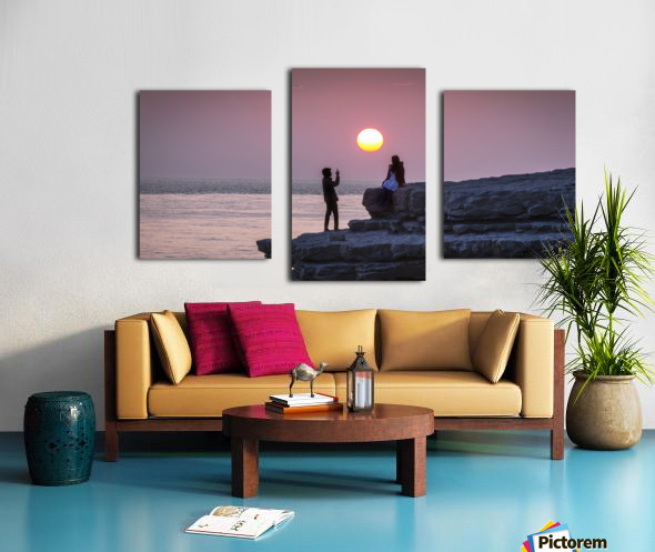 Photo opportunity at Nash Point Canvas print