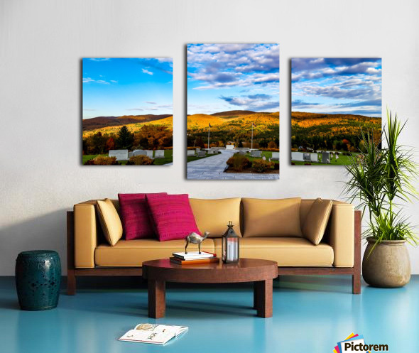 Autumn from the Mountain Canvas print