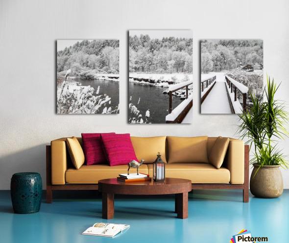 Rugby Pitch Bridge- Winter Canvas print
