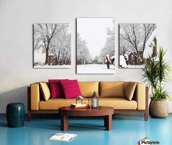 Parade Ground-- Winter Canvas print
