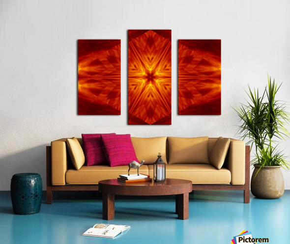 Fire Flowers 1 Canvas print
