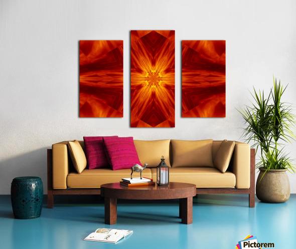 Fire Flowers 2 Canvas print