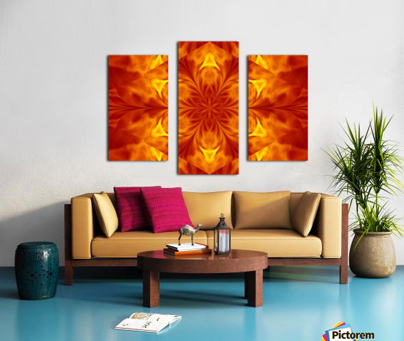 Fire Flowers 7 Canvas print