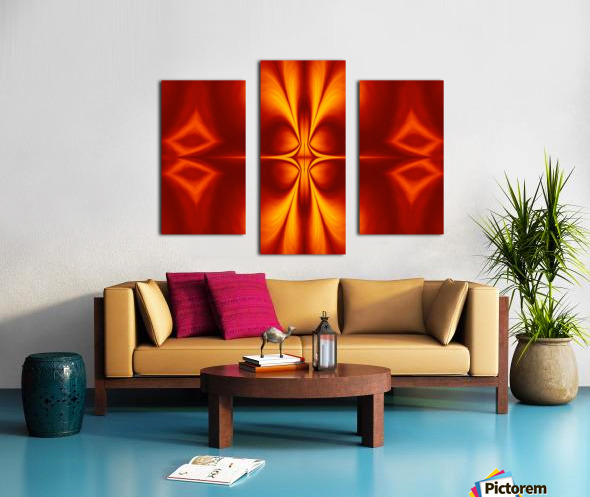 Fire Flowers 12 Canvas print